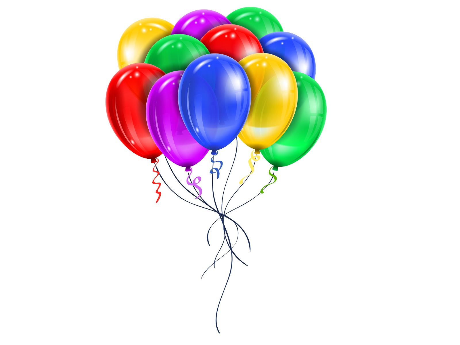 Happy Birthday Wishes Colorful Balloons