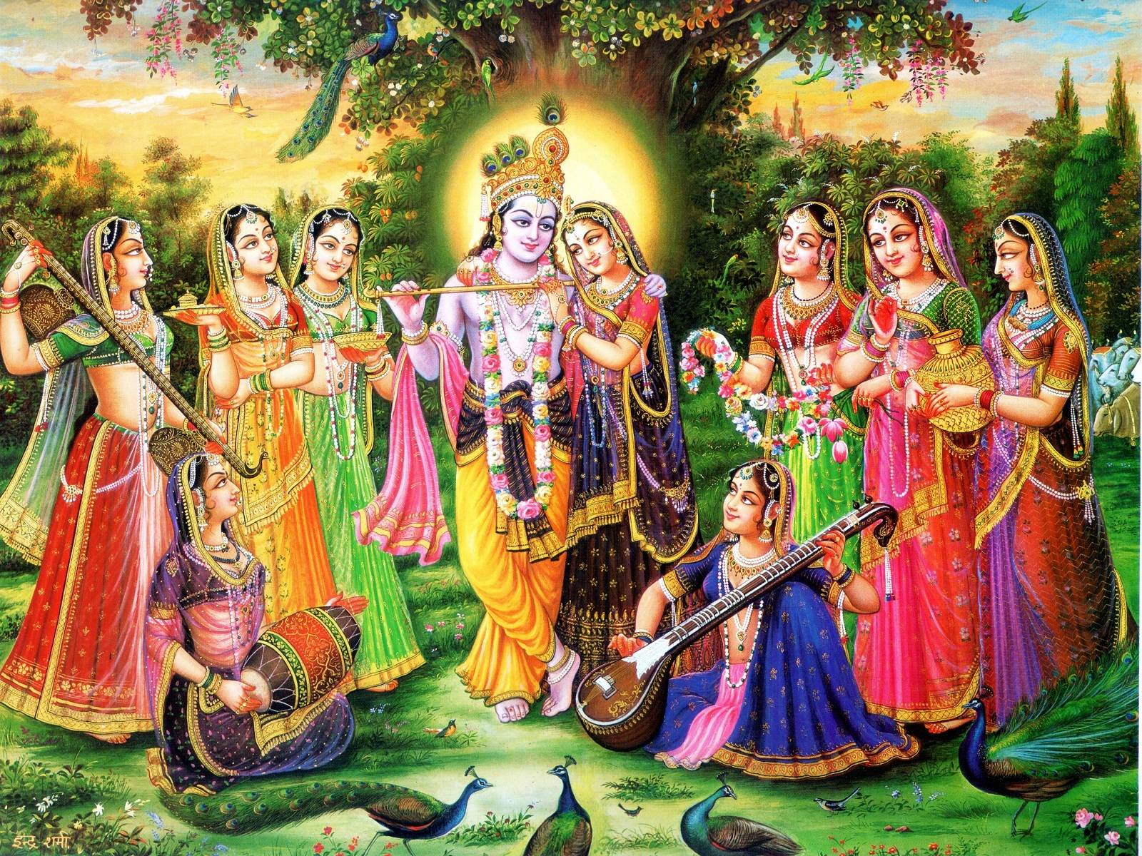 Shree Krishna Ras Leela With Gopi In Gokul