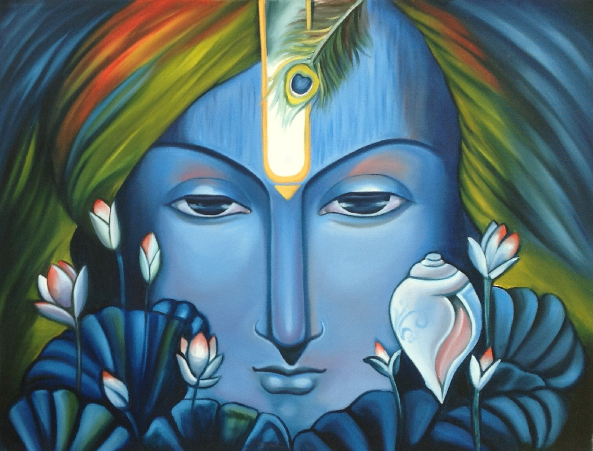 Lord Shree Krishna Best Paintings Posters
