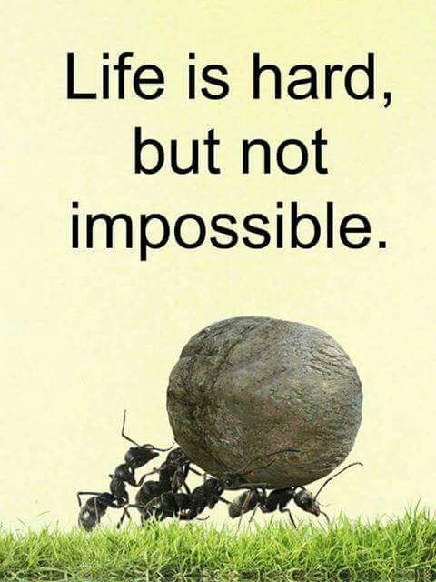 Life Is Hard But Not Impossible