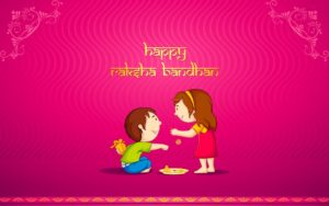 Cute Brother And Sister Rakhi Festival Wallpapers