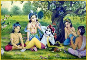 Krishna With Friends