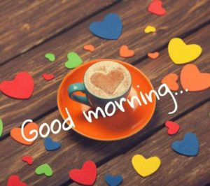 Good Morning With Tea And Colorfull Love